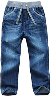 Joe Wenko JWK Kid Boy Full Length Elastic Mid Waist Washed Pants Denim Jeans