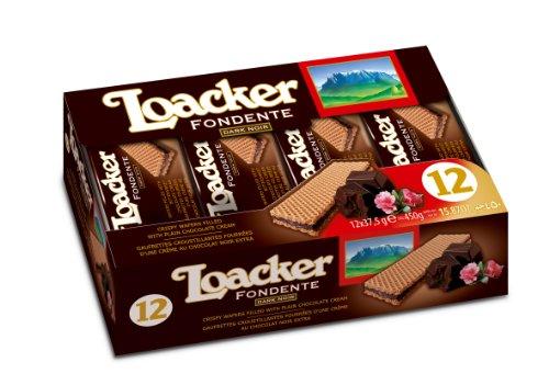 Loacker Crispy Wafers - LOACKER COOKIE WAFR CLAS DRK NOIR, 1.32 OZ
