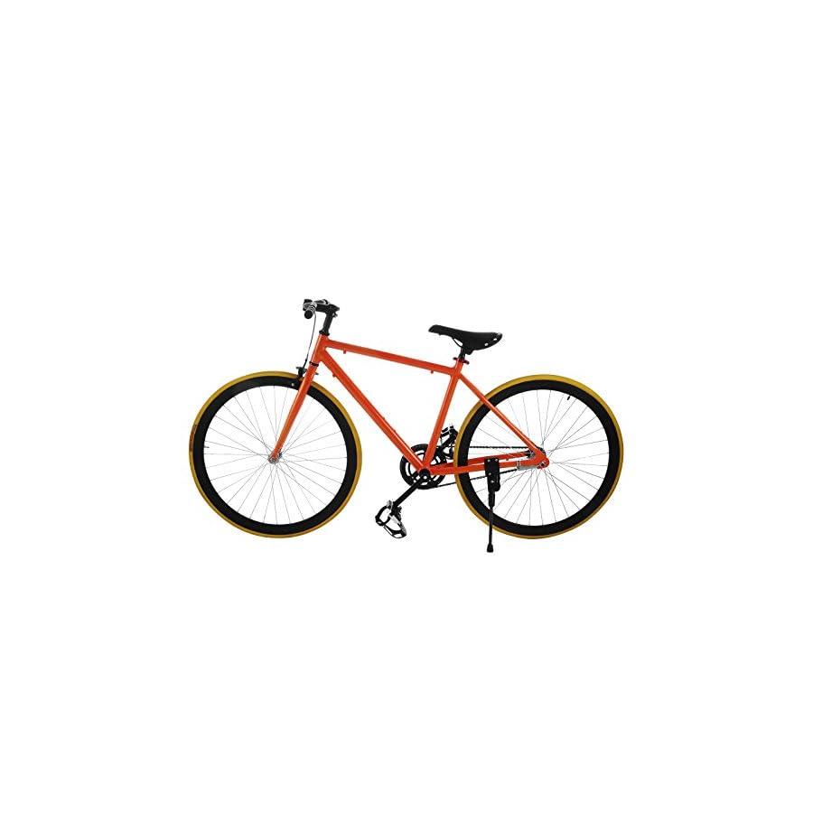 SucceBuy Fixed Gear Bike Single Speed Fixie Bike 27 Inch Road Bike ...