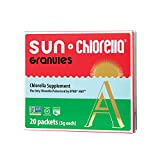 SUN CHLORELLA Chlorella Supplement Granules – Vegan-Friendly Superfood Supplement Enriched With Vitamin A, D, B2, B6 & Omega-3 and Omega-6 (3g – 20 Packets)