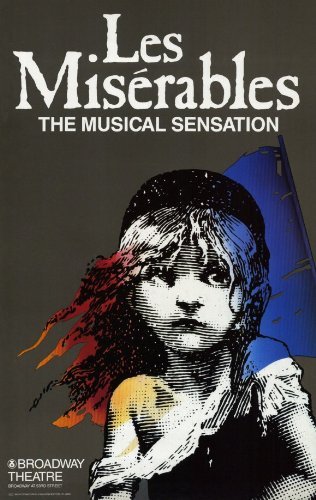 (Les Miserables 11x17 Broadway Show Poster (1987))