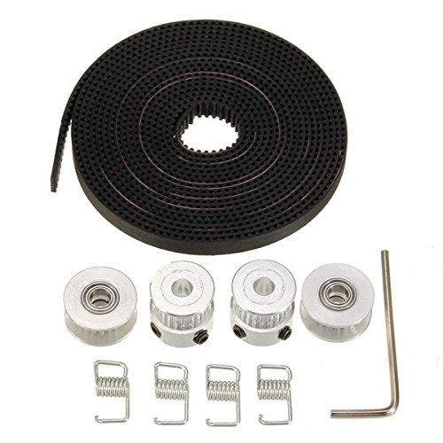 HONG111 GT2 20 Teeth Aluminium Timing Pulley 2.5M 2GT Belt For 3D Printer RepRap
