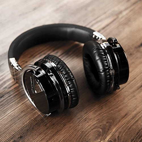 Black noise-canceling headphones.