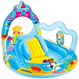 Intex Mermaid Kingdom Inflatable Play Center, 110'' X 63'' X 55'', for Ages 2+