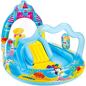 """Intex Mermaid Kingdom Inflatable Play Center, 110"""" X 63"""" X 55"""", for Ages 2+"""