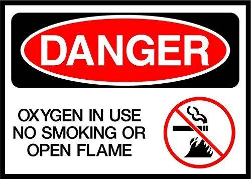 MNUT Cartel de Metal con Texto en inglés Danger Oxygen ...
