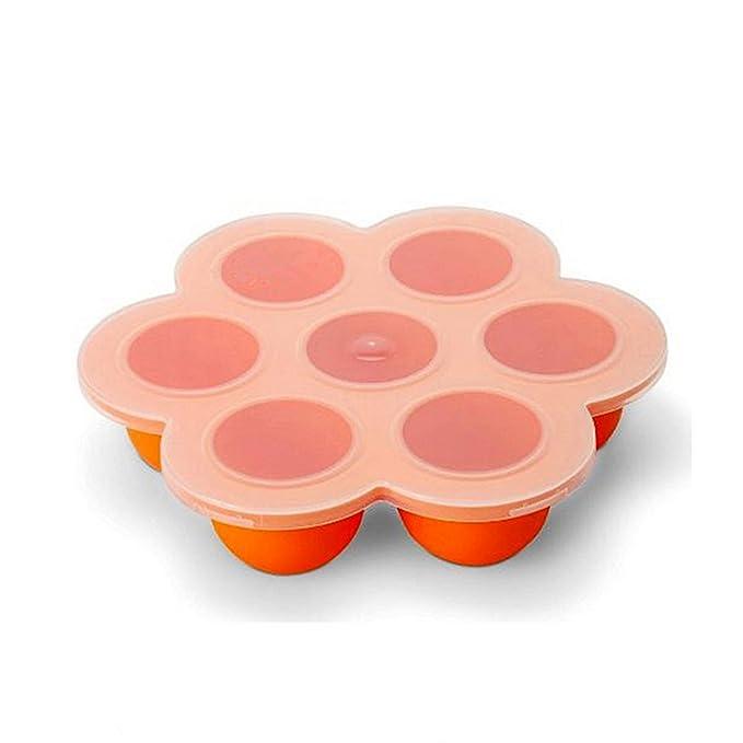 Candy Making Molds 7 cavidad/tazas silicona Ice Cube bandejas para casa DIY molde de chocolate Moldes resistente al calor reutilizables (Naranja): ...
