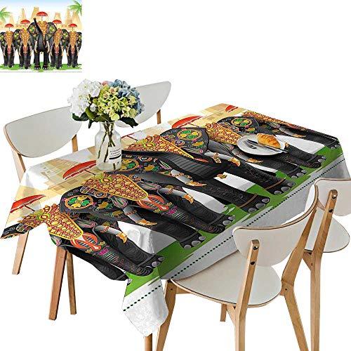UHOO2018 Eco-Friendly and Safe Traditi al Costum Umbrellas Cerem y Graphic Multicolor Square/Rectangle Multi Colors & Sizes,54 x102inch