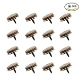 """BBTI 16pcs Round Heavy Duty 1.1"""" Nail-on Anti-Sliding Felt Pad Furniture Chair Tables Feet for Straight Wooden Furniture Legs (Dia 0.79"""" or 22mm)"""