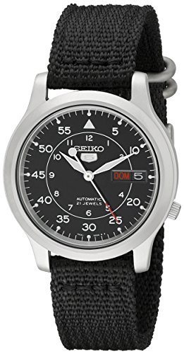seiko-mens-snk809-seiko-5-automatic-stainless-steel-watch-with-black-canvas-strap