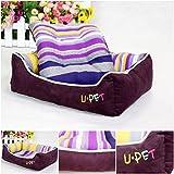 1Pc Optimal Popular Pet Bed Size M Cat Mat Dog House Puppy Blanket Color Purple