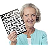 """EZ Readers Large-Format 8.5"""" x 11"""" Bingo Cards with Jumbo 1-inch Numbers by Royal Bingo Supplies"""