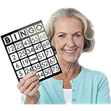 "EZ Readers Large-Format 8.5"" x 11"" Bingo Cards with Jumbo 1-inch Numbers by Royal Bingo Supplies"