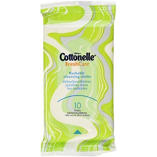 Cottonelle Fresh Care Flushable Cleansing Cloths, Color May Vary 10 ea (Pack of 2)