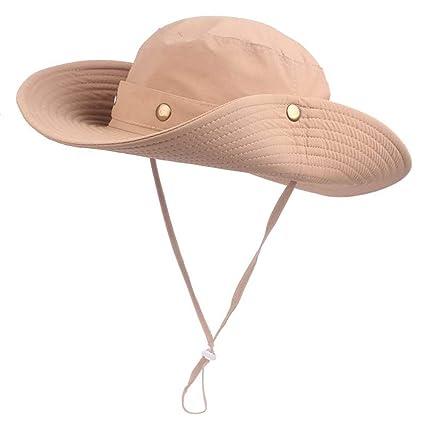 Einskey Sombrero Protector Solar Sombrero de Malla para Hombre al Aire Libre  Cuello Shade Hat- 054afb334c5