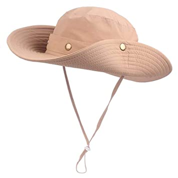 e70839c4c48 Image Unavailable. EINSKEY Men s Cowboy Sun Hat Outdoor Wide Brim Bucket  Hat Foldable Cotton Boonie Hat for Hunting