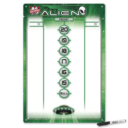 Dart World Alien Dry Erase Scoreboard, Medium by Dart World