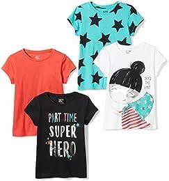 Girls 4-Pack Short-Sleeve T-Shirts