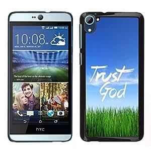 EJOY---Cubierta de la caja de protección para la piel dura ** HTC Desire D826 ** --BIBLIA Confía en Dios
