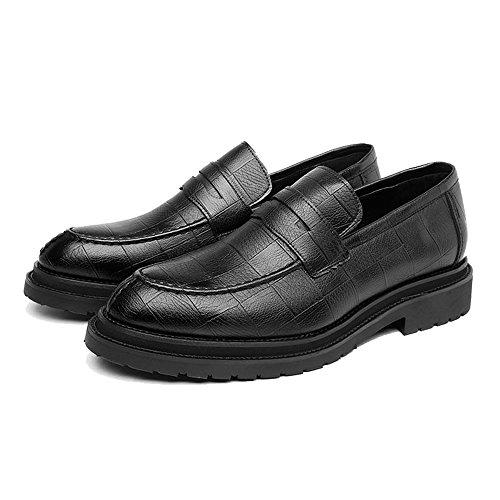 à pour Texture Hommes Résistant Noir Carrée Sunny Chaussures PU de de Cuir Richelieus Classiques à en L'Abrasion Sport Mocassins amp;Baby Enfiler 80xp4w0qv
