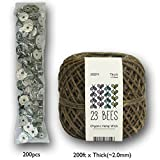 100% Organic Hemp Candle Wick + Wick Sustainer Tabs   23 Bees, 200ft(Thick) x 200pcs