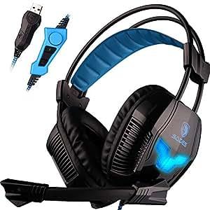 Amazon.com: SADES A30S USB Stereo Gaming Headset Bass ...