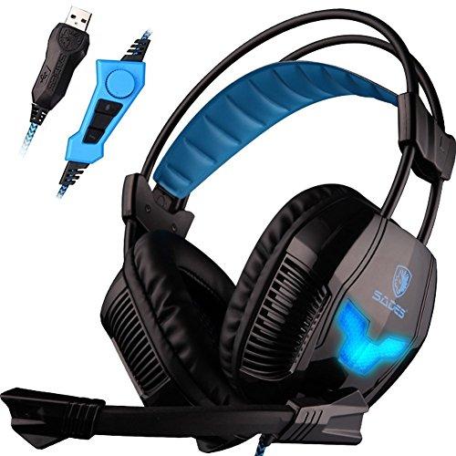 SADES A30S Vibration Headphones Microphone
