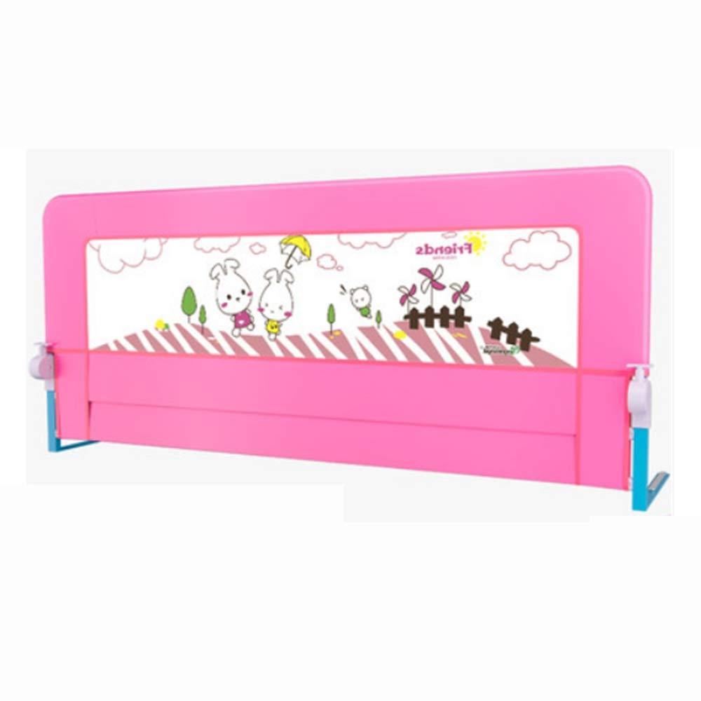 NAN liang セーフティ幼児ベッドガードピンクフォールディングフェンス子供の落ち着いたベッドサイドバッフル1.5 / 1.8 / 2mベッドユニバーサル (サイズ さいず : 200cm) 200cm  B07KJMMBTG