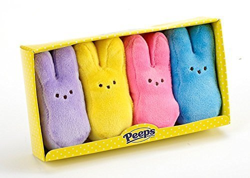 Peeps 4-Pack Bunnies Assortment - Lavendar, Yellow, Pink and Blue