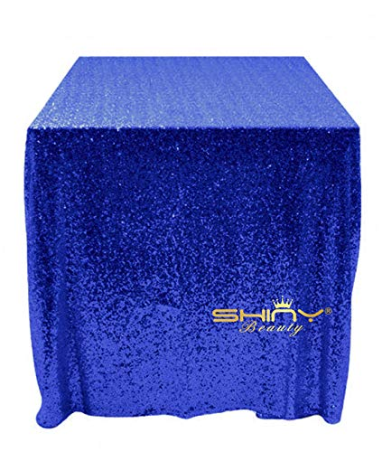 Royal Blue Sequin Tablecloth Rectangle 48x48-Inch Sequin Table Cover Sequence Table -
