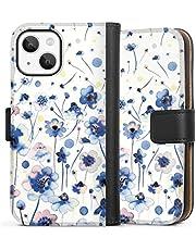 Sideflip compatibel met Apple iPhone 13 Mini Bookcase Flipcase Patroon Bloemen Waterverf