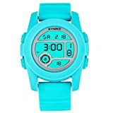 Fashion Boys Girls Outdoor Digital Quartz Waterproof Jelly Sports Watches For 5-15 Years Old Light Blue