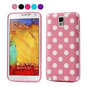 ZXC Lovely Wave Points TPU Back Cover for Samsung Galaxy Note3(Assotted Color) , Pink