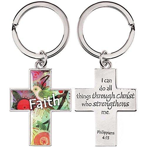 Dicksons Faith I Can Do All Things Through Christ Phil. 4:13 Christian Key Ring Keychain
