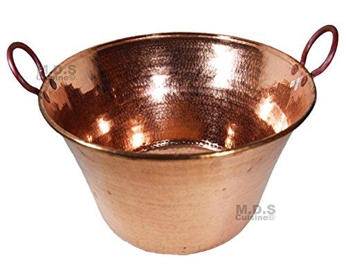 Cazo De Cobre Para Carnitas- Large 18 inch Heavy Duty Gauge Copper Cazo- Hand Mammeded- Made in Mexico 100%