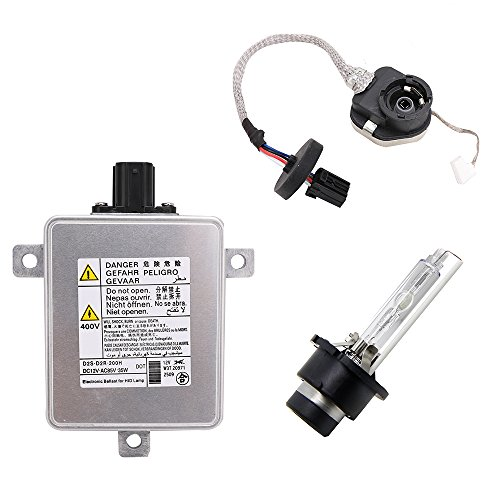 W3T19371 Xenon HID Headlight Ballast with Igniter and D2S Bulb for Acura TL TL-S TSX ILX ZDX RDX MDX CSX Honda CR-Z Odyssey Mazda CX-5 CX-9 3 5 Mitsubishi Outlander Lancer Evolution W3T15671 W3T16271 Acura Mdx Headlight Replacement