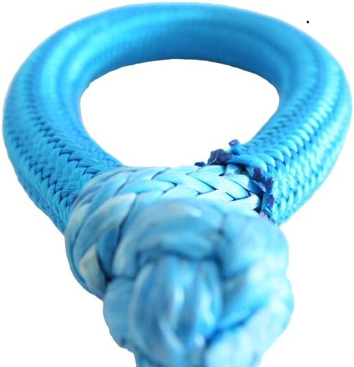 Synthetic Shackle blu ATV Winch Shackle for Yacht 2pcs 10/ mm 80/ mm Blue Soft Shackle