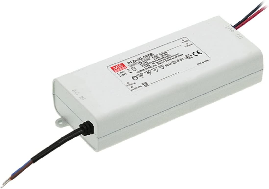 LED Driver 40.6W 29V 1400mA PLD-40-1400B Meanwell AC-DC SMPS PLD-40 Series MEAN WELL C.C Power Supply