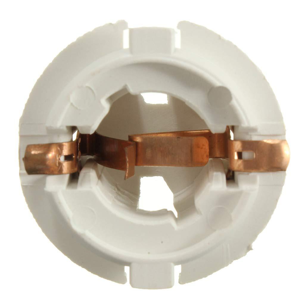 Easy to Install White gazechimp 2Pcs Car Auto Tail Light Brake Lamp Bulb Socket Holder for BMW X3 E83 2003-2010