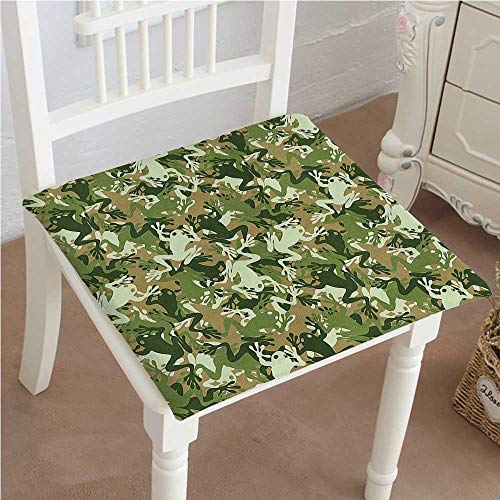 Indoor/Outdoor All Weather Chair Pads Skull uflage Military Design with Frog Tones Artprint Sage Pine Green Seat Cushions Garden Patio Home Chair Cushions 24