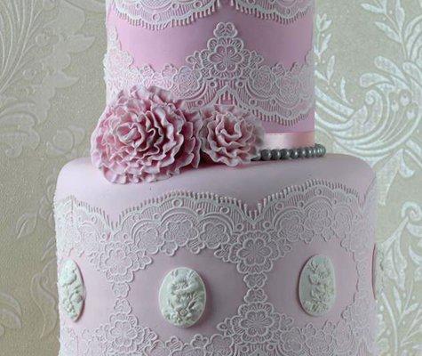 Claire Bowman 3D Cake Lace Mat - 1 Strip Tiffany Lace 3D Mat (Lace Tiffany)