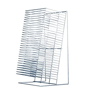 Sax Counter and Tabletop Single-Slide Drying Rack with 30 Shelves - 12 x 8 inches