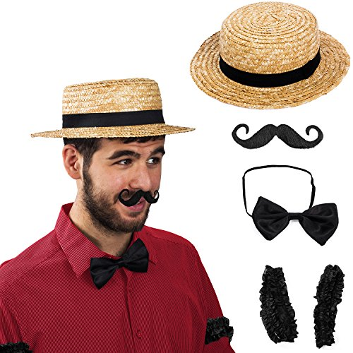 Tigerdoe Barber Costume - Carnival Costume - Barbershop Quartet Costume - 1920 Costumes (Black Barber Costume Set) -