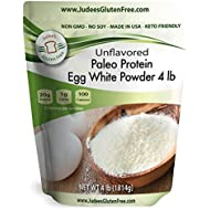 Judee's Egg White Protein Powder (4 lbs) Keto, Non GMO, Dairy Free, Soy Free, Dedicated Gluten & Nut Free Facility, Made in USA