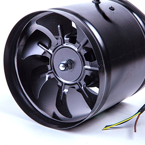 QIDUO High speed energy saving 7 inch inline duct fan low noise ventilation fan 220V 50HZ ()