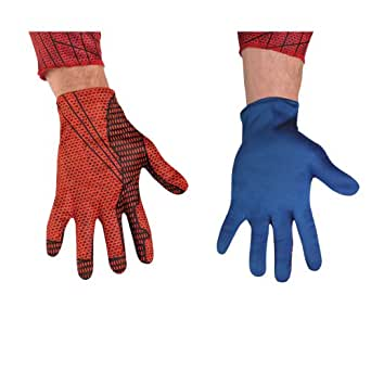 Marvel Disguise The Amazing Spider-Man 3D Movie Adult Gloves, Red/Blue, One Size Costume