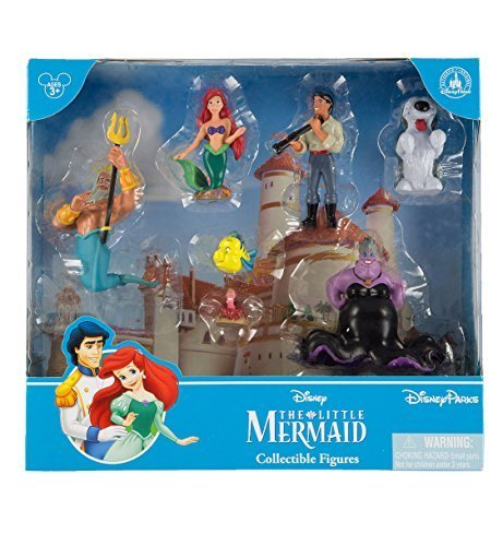 Disney Parks Exclusive Little Mermaid Ariel Collectible Figurine Playset Play Cake Topper Set ()