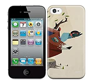 Best Power(Tm) HD Colorful Painted Watercolor The Tree Of Life The Home Of The Birds Hard Phone Case For Iphone 4/4S