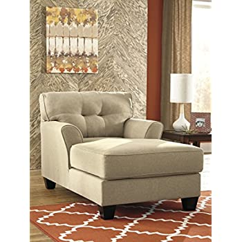 Benchcraft Laryn Collection 5190215 Chaise With Fabric Upholstery Piped  Stitching Tapered Legs And Contemporary Style In Part 82