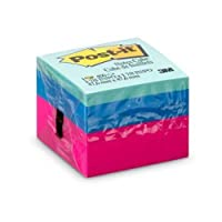 Bloco de Notas Adesivas Cubo Ultra, Post-it, Reposicionavel, Colorido